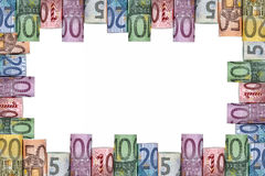 Euro notes frame Stock Photography