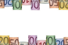 Euro notes frame with copy space Stock Images