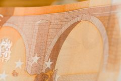 50 euro notes - Image stock images