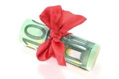 Euro notes with ribbon Stock Photo