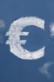 Euro nube a forma di Fotografia Stock Libera da Diritti