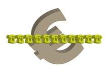 Euro och telefoner Arkivfoto