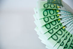 Euro odizolowywający na bielu z ścinek ścieżką Obrazy Stock
