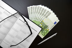 Euro in office Stock Photos
