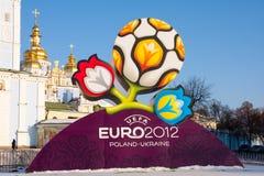 EURO oficial 2012 de la UEFA del logotipo Imagen de archivo libre de regalías