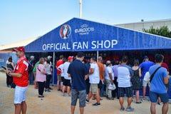 Euro 2016 Oficjalnych fan sklepów Zdjęcia Stock