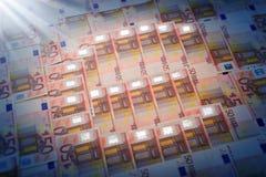 euro ognisty ilustracj serii symbol Obrazy Royalty Free