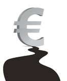 Euro Oil industry. Big oil droplet Stock Image