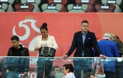 EURO 2016 określników Polska vs Gibraltar zdjęcia stock