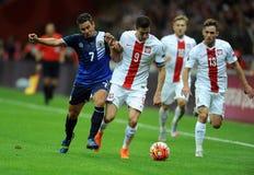 EURO 2016 określników Polska vs Gibraltar Obrazy Stock