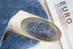 Euro onder druk Stock Afbeeldingen