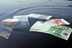 Euro onderwater Royalty-vrije Stock Fotografie