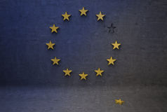 Euro ontbinding Royalty-vrije Stock Afbeelding