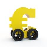 Euro op wielen royalty-vrije illustratie