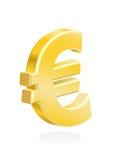 Euro - oro europeo del símbolo de dinero en circulación Fotografía de archivo