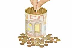 euro oszczędzania Fotografia Stock