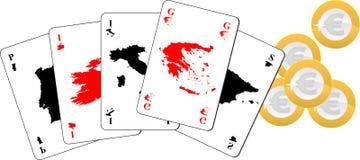 Euro- póquer Ilustração Royalty Free