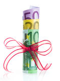 Euro package for gift christmas Stock Photo