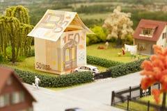 Euro paesaggio della casa Fotografie Stock Libere da Diritti