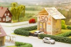Euro paesaggio della casa Fotografia Stock Libera da Diritti