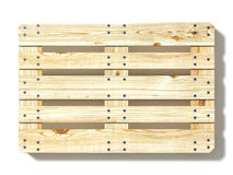 Euro pallet. Top view Royalty Free Stock Photos