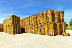 Euro pallets Stock Image