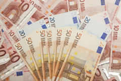 Euro. Paper Euro banknotes suitable for background royalty free stock photo