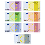 Euro paper bill banknotes Stock Photo