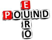 euro parole incrociate della sterlina 3D Immagini Stock