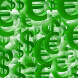 Euro- patten do símbolo do dólar ilustração stock