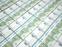 100 euro pengarbakgrund Arkivbild