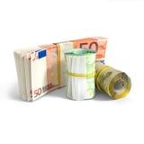 Euro petits pains de billets de banque Photo stock