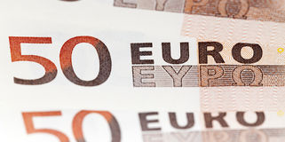 Euro, photographed close up Stock Image