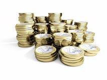 Euro pièce de monnaie 3d Images libres de droits