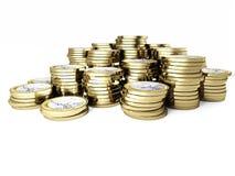 Euro pièce de monnaie 3d Photos libres de droits