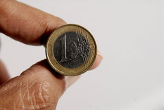 Euro pièce de monnaie Images libres de droits