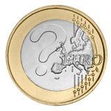Euro pièce de monnaie avec le point d'interrogation Photos stock