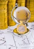 Euro pièce de monnaie d'argent Images libres de droits