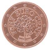 Euro pièce de monnaie de cent Images stock