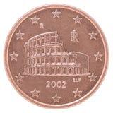 Euro pièce de monnaie de cent Photo libre de droits