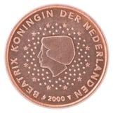 Euro pièce de monnaie de cent Image libre de droits