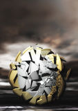 Euro pièce de monnaie de explosion Photos libres de droits