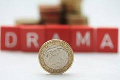 Euro pièce de monnaie grecque Images libres de droits