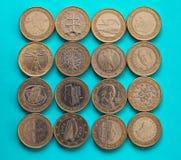 1 euro pièce de monnaie, Union européenne Photographie stock libre de droits
