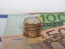 1 euro pièce de monnaie, Union européenne Photo libre de droits
