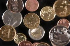 Euro-pièces de monnaie images libres de droits