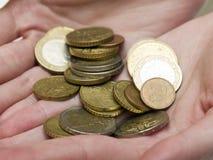 Euro pièces de monnaie Photo libre de droits