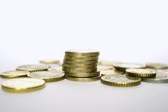 Euro pièces de monnaie Images libres de droits