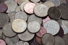 Euro pièces de monnaie Images stock