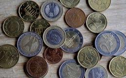 Euro pièces de monnaie Image libre de droits
